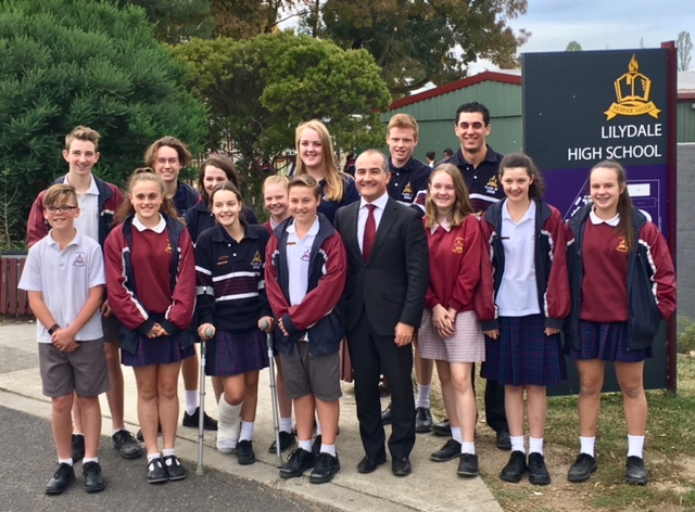 Education Minister and Deputy Premier James Merlino visits LHS