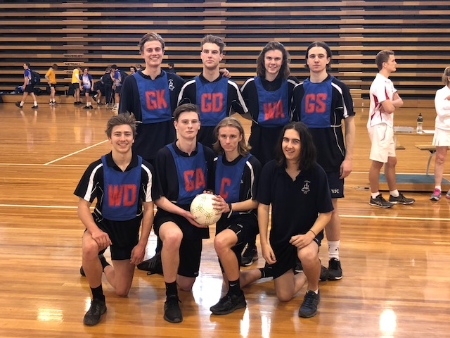 Senior Boys Netball team State CHAMPIONS